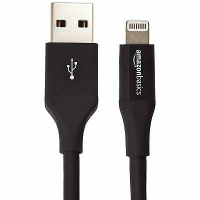 AmazonBasics Lightning to USB A Cable, MFi Certified iPhone Charger, 0.9 Meters