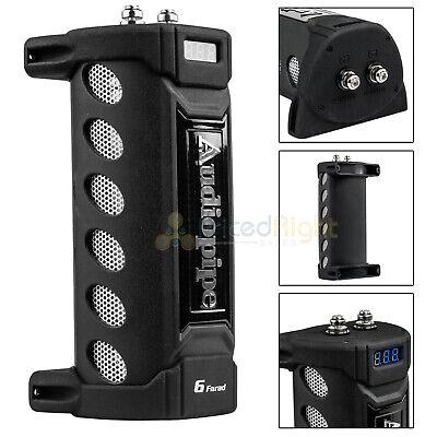 6 Farad Capacitor Audiopipe ACAP-6000 12V Car Audio Blue 3 Digit Digital Display (Farad Capacitor Car Audio)