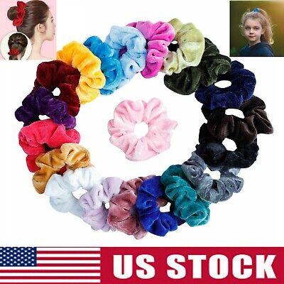 10 Pack Velvet Hair Scrunchies Hair Ties Elastic Hair Bands Ropes for Women Girl