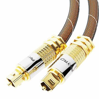 2m OPTICAL CABLE DIGITAL AUDIO Lead TOSLink SPDIF DTS SURROUND SOUND