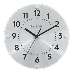 404-3725 La Crosse Clock Company 10 Orion Metal Silent Sweep Analog Wall Clock