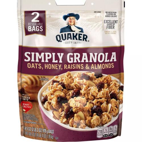 Quaker Simply Granola (34.5oz., 2 Resealable Bags.) Hot Sale