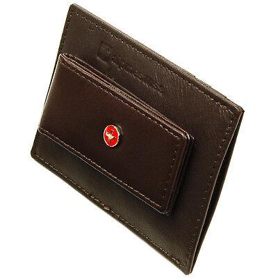 Alpine Swiss Men's Leather Money Clip Wallet Slim Card Case