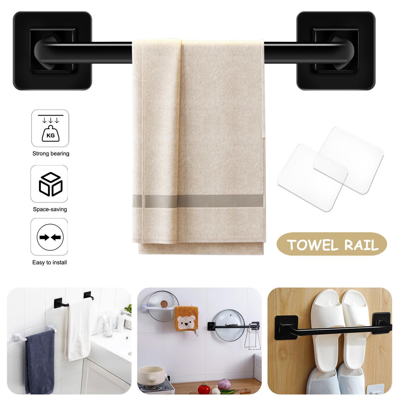 9.4'' / 13.4'' Towel Rail Rack Bar Wall Mounted Bathroom Kitchen Hanger Shelf