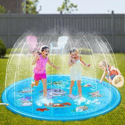 Outdoor Sprinkler Pad Toys for Kids & Baby BIG 68'' Sprinkler Splash Pool Water](Outdoor Water Toys For Kids)