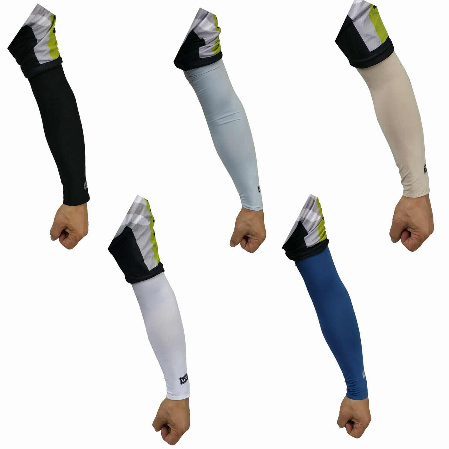 XERU Cooling Arm Sleeves Cover UV Sun Protection Outdoor Sports For Men Women