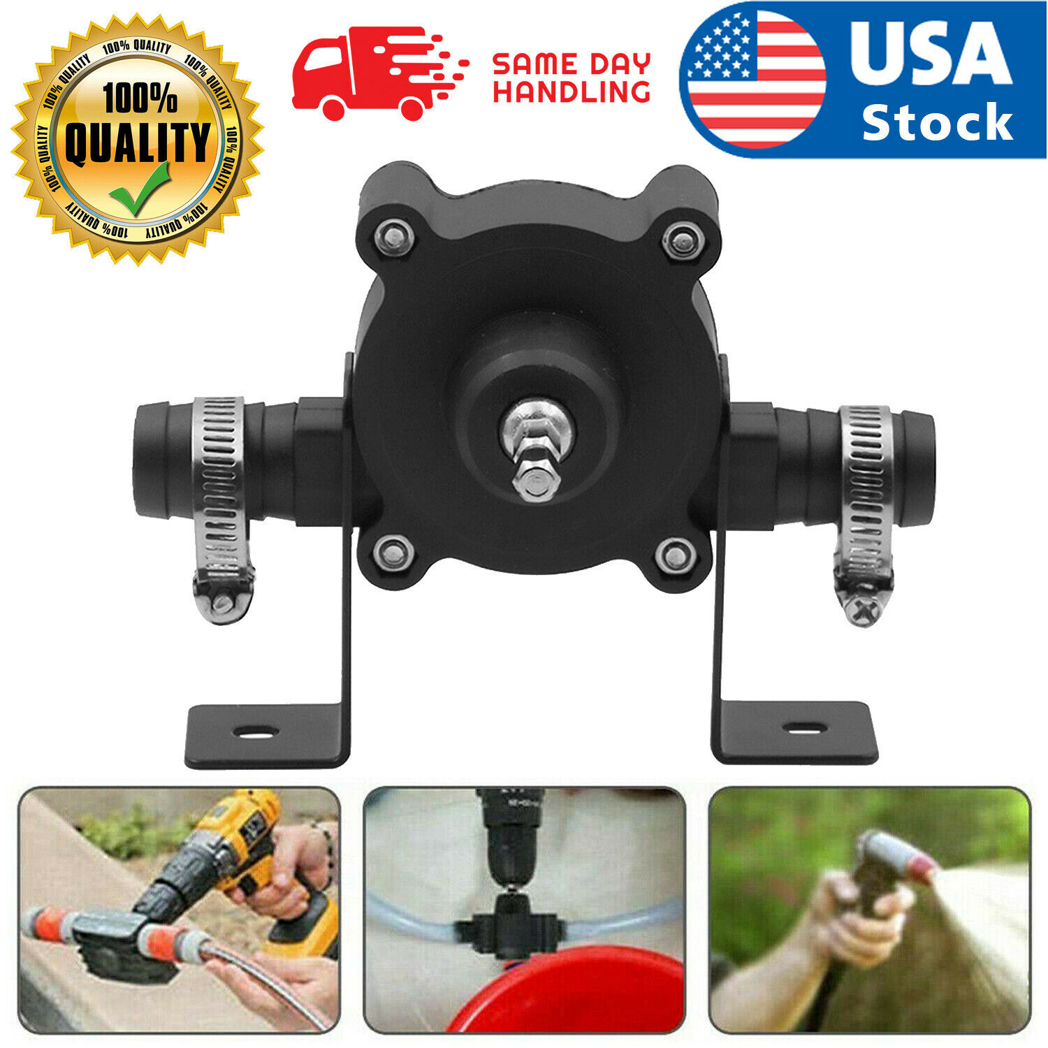 Hand Electric Drill Drive Self Priming Pump Home Oil Fluid Water Transfer Tools Home & Garden