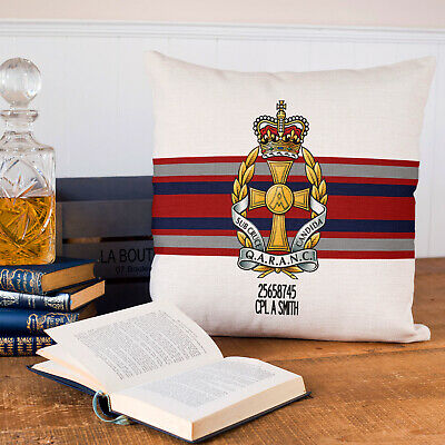 QARANC Nursing Corps Cushion Cover PERSONALISED British Military Gift MC17, used for sale  Bridgnorth