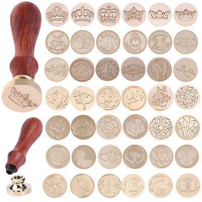 Vintage Envelope Wedding Invitations Greetings Brass Seal Wax Stamp Wood Handle