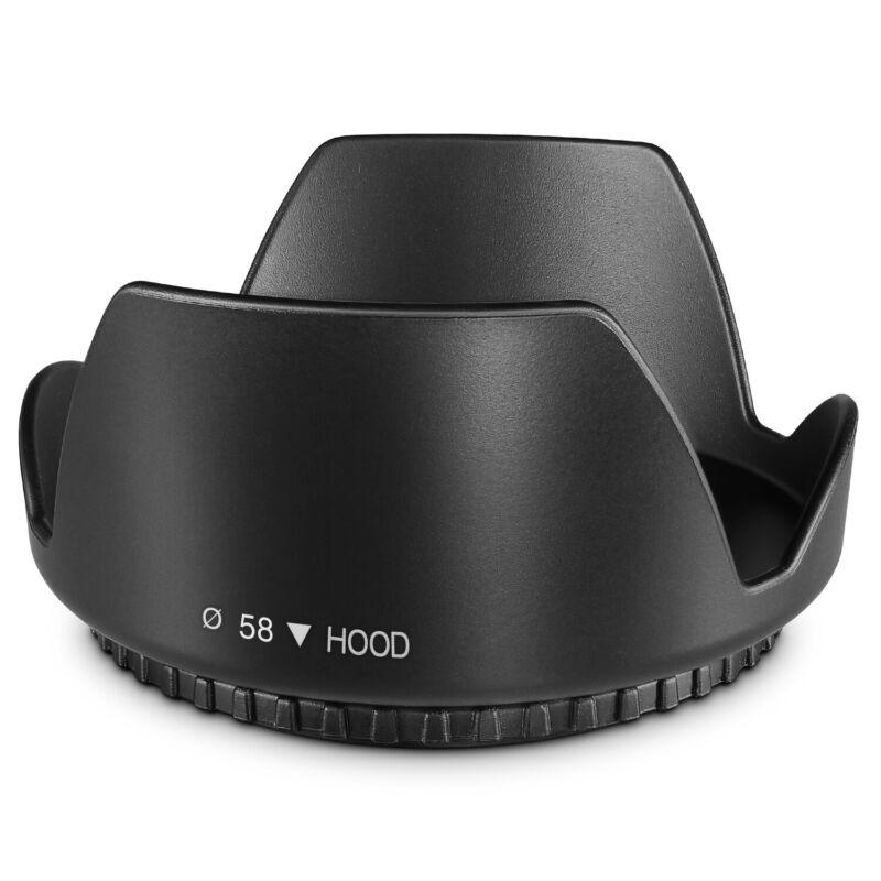 58MM Tulip Flower Lens Hood for Canon Rebel T5, T6, T6i, T7i, EOS 80D, EOS 77D