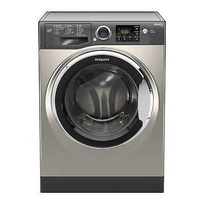 Hotpoint RSG845JGX Washing Machine 8 kg Wash Load 1400 RPM Spin Speed - Graphite