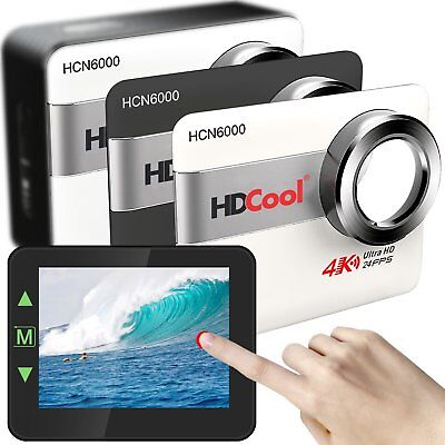 Hdcool Action Camera 4K Ultra 20Mp Touch Screen Wifi Waterproof Sports Camera