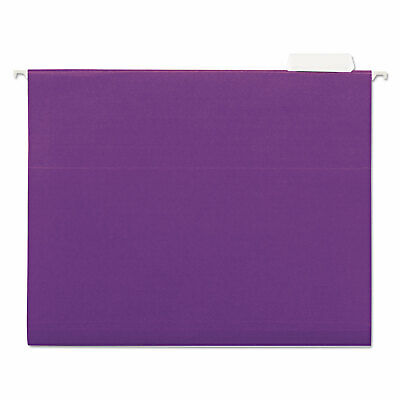 Universal Hanging File Folders 15 Tab 11 Point Stock Letter Violet 25box 14120