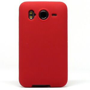 Black Soft Rubber Silicone Gel TPU Soft Cover Case AT&T HTC Inspire 4G Desire HD