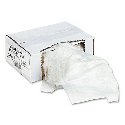 UNIVERSAL High-Density Shredder Bags 16 gal Capacity 100/Box 35945