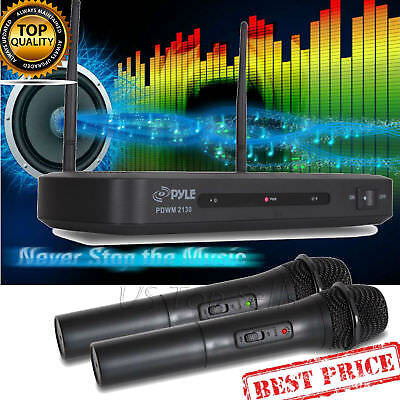 - Dual UHF Wireless Microphone System Professional Microphones Handheld Frequency
