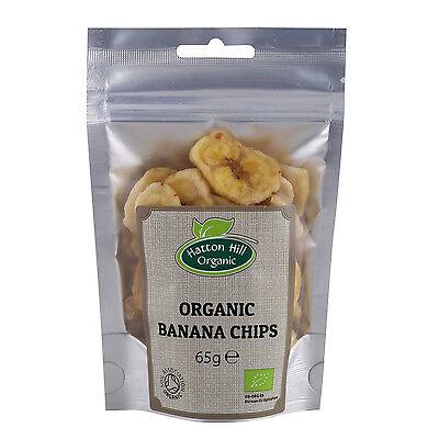 (Organic Dried Banana Chips 65g Certified Organic)