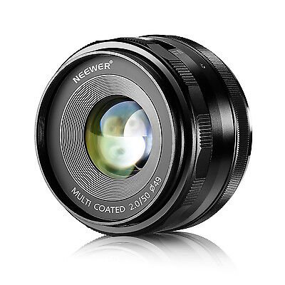 Neewer 50mm f/2.0 Manual Focus Prime Fixed Lens for Sony E-Mount NEX3 3N 5 5T 5R