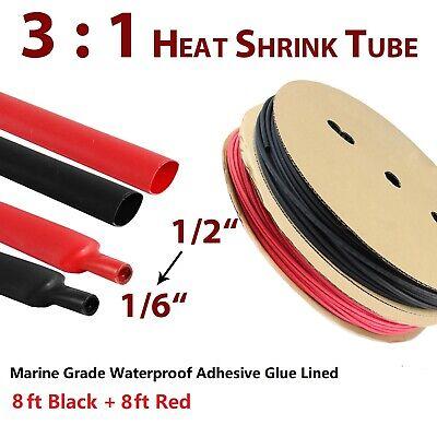 31 Heat Shrink Tubing 12 Marine Grade Blackred Adhesive Glue Wire Assortment