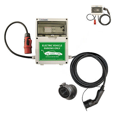 WB24 Wallbox 3 Phasig 400V 11kW 16A Typ 2 5m Ladestation mit Bluetooth für Elekt