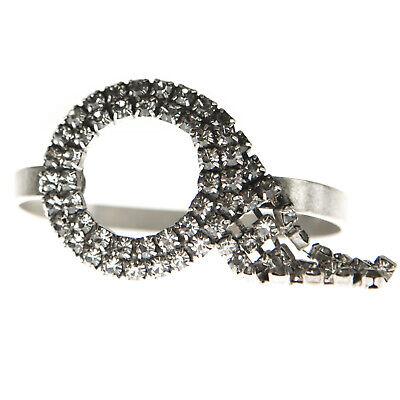 JOOMI LIM White Crystal Squared Bangle Bracelet NEW
