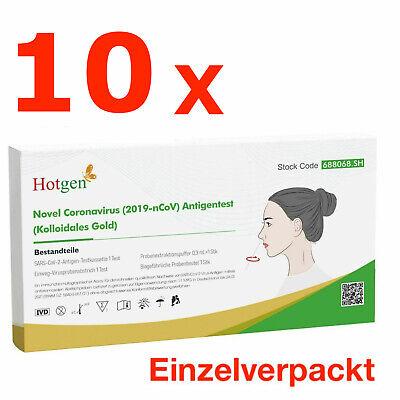 10 x Corona Schnelltest Laien Test Covid19 Antigen Sars Antikörper HOTGEN®