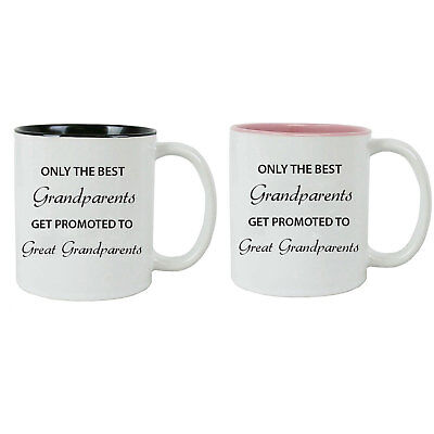 Only the Best Grandparents Get Promoted to Great Grandparents Coffee (The Best Coffee Mugs)