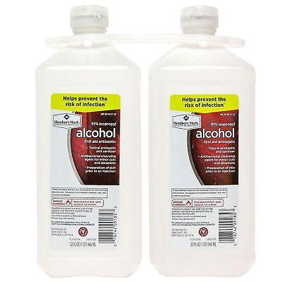 Member's Mark 91% Isopropyl Alcohol (32 fl. oz., 2 pk.) Free Shipping !!!