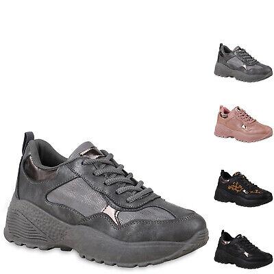 895489 Damen Plateau Sneaker Lack Metallic Schuhe Freizeit Turnschuhe Hot Metallic-schuhe