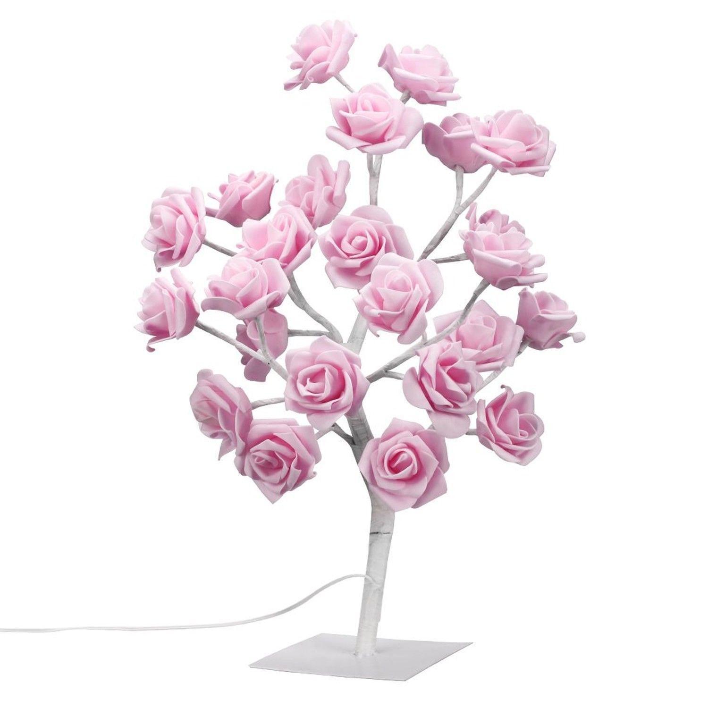 Finether Table Lamp Adjule Rose Flower Desk 1 64ft Pink Tree Light For