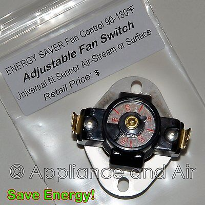 Details about Adjustable Temperature Fireplace Wood Stove Blower Fan  Thermostat Switch +Instr. - Adjustable Temperature Fireplace Wood Stove Blower Fan Thermostat