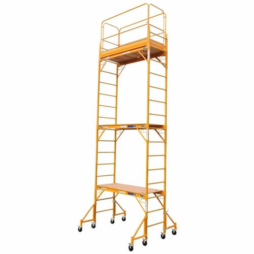 18FT BAKER PERRY STYLE SCAFFOLD W / GUARD & OUTRIGGERS
