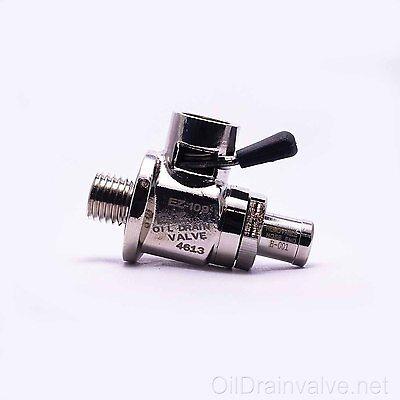 EZ Engine Oil Drain Valve EZ-109(12mm-1.5) & Straight Hose End H-001 COMBO PACK Hose Oil Drain