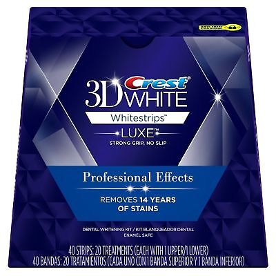 No Box Crest 3D White Whitestrips Luxe Professional Effects 20 Strips 10 Pouch