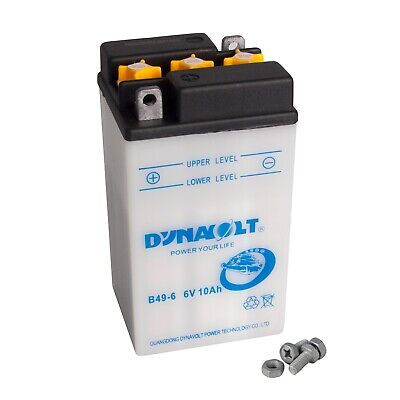 Dynavolt Motorradbatterie B49-6 00811 6V 10Ah inkl. Säurepack (Motorrad Amp)
