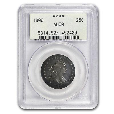 1806 Draped Bust Quarter AU-50 PCGS (OGH) - SKU#161506
