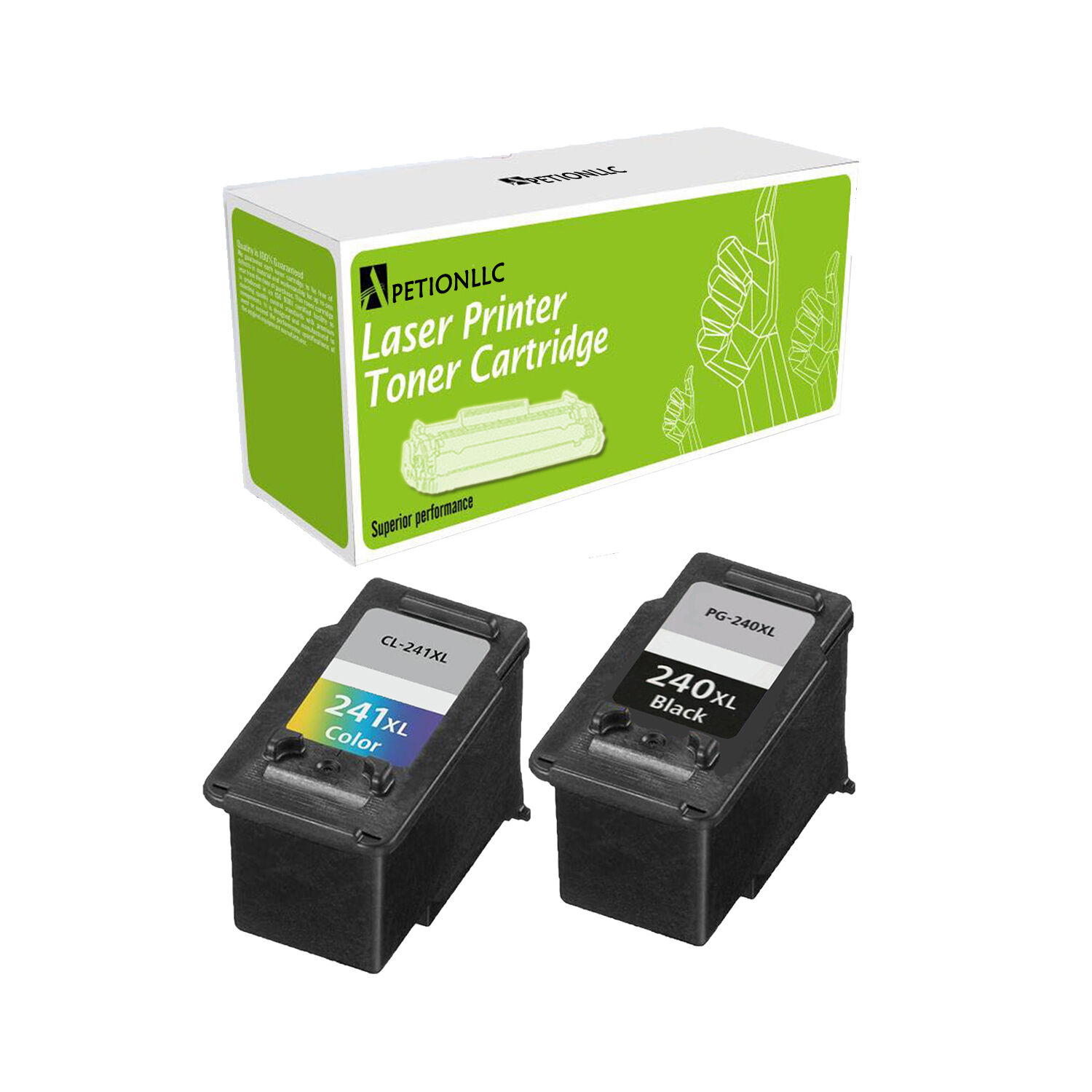Pg-240xl Black & Cl-241xl Color Ink For Canon Pixma Mg212...