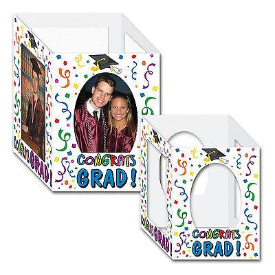 Beistle 2-Pack Congrats Graduate Photo Centerpiece Graduation Table Decoration