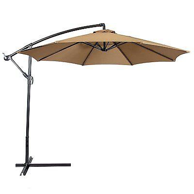 10' Stalwart Hanging Outdoor Patio Pool Umbrella Heavy Duty Backyard Couch Shade