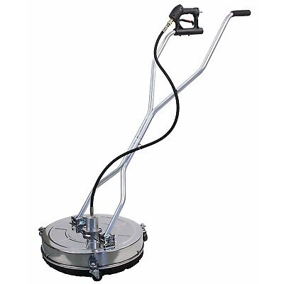 Stainless Steel Flat 18 Power Pressure Washer Surface Cleaner 4000 Psi Max 8gpm