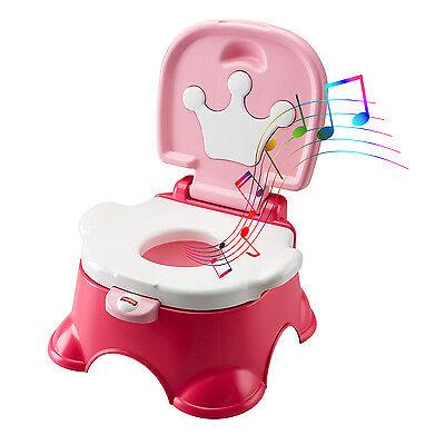 Potty Training Chair Seat Baby Kids Toddler Toilet Pee Trainer Stepstool Girls