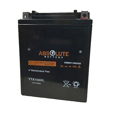New YTX14AHL-BS Replacement Battery for Yamaha 500 XS500 1975-1978 Motorcycle