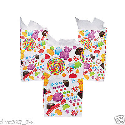 SWEET TREATS Candyland CANDY Themed Party Favor Treat PAPER BAGS Sacks - Candyland Party Theme