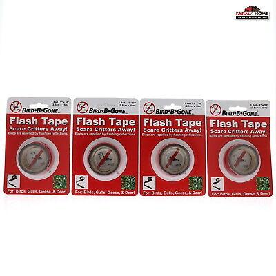 (4) Bird Scare Deterrent Flash Tape ~ Repellent Pest Control ~ New