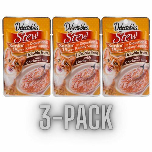 Hartz Delectables Stew Lickable Cat Treat  Chicken & Tuna  3-pack  Senior 15yrs+