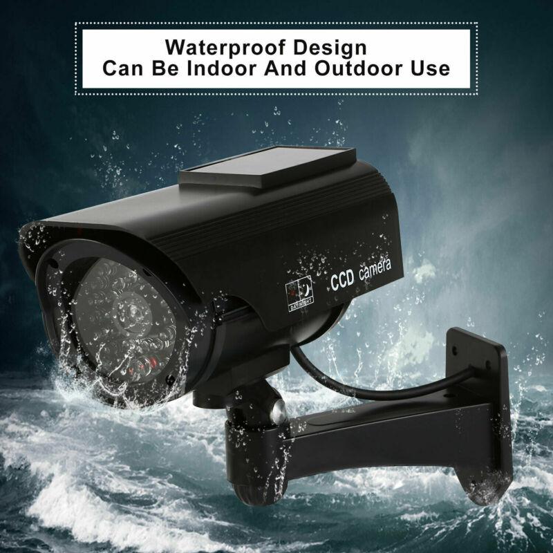 4X Bullet Fake Dummy Surveillance Security Camera waterproof Record Light Black
