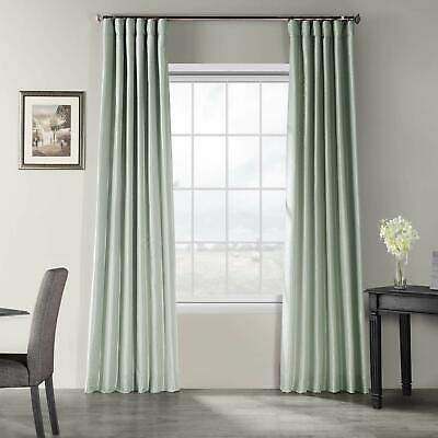 Exclusive Vintage Textured Faux Dupioni Silk Curtain Panel 50 X 108 Waterfall Textured Silk Curtain
