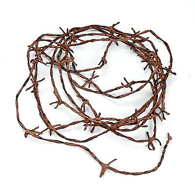 Rusty Barbwire Barbedwire Cord 18 ft WESTERN prop HALLOWEEN COWBOY wedding PARTY - Western Prop