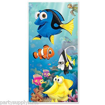FINDING DORY Nemo UNDER THE SEA DOOR COVER Party Decoration PHOTO BOOTH Fish (Finding Nemo Party Decorations)