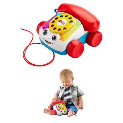 Fisher-Price Chatter Telephone with Ringing Sounds TOY Free Shipping NEW
